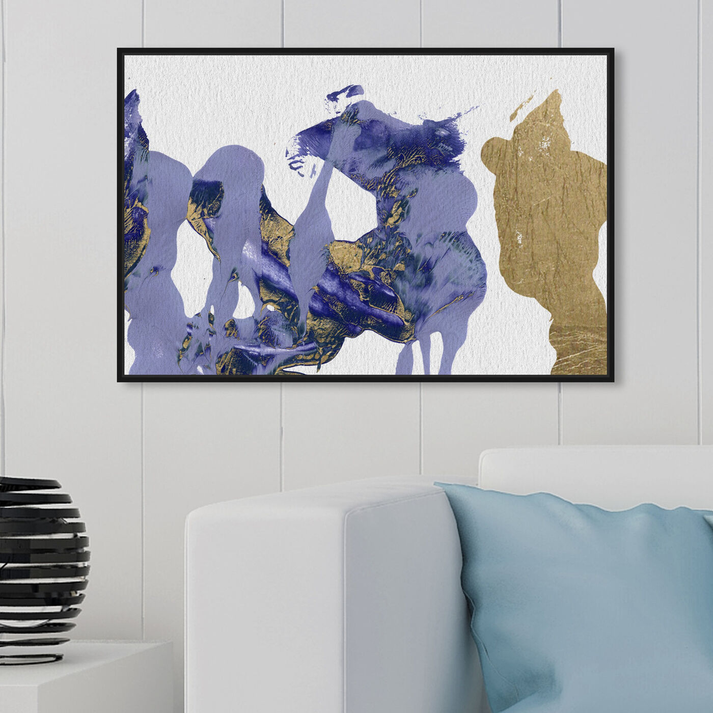 Hanging view of Rare Lio featuring abstract and paint art.