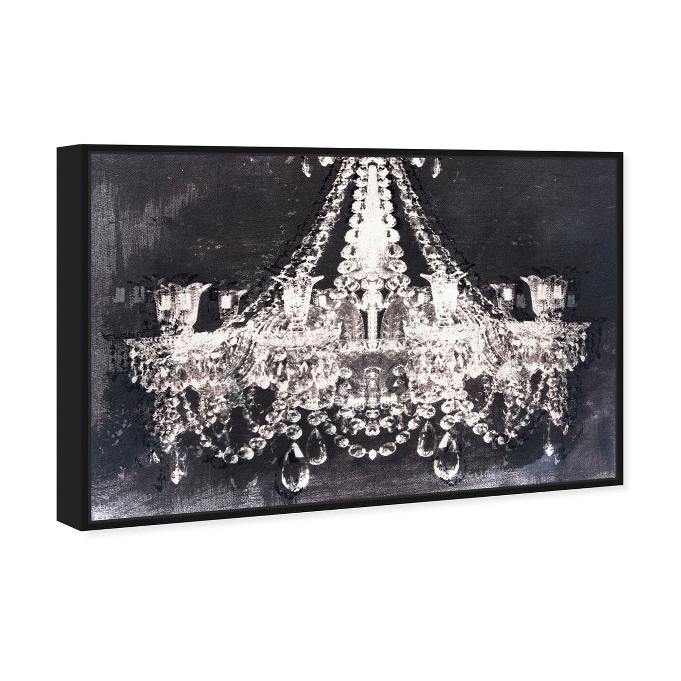 Angled view of Dramatic Entrance Night featuring fashion and glam and chandeliers art.