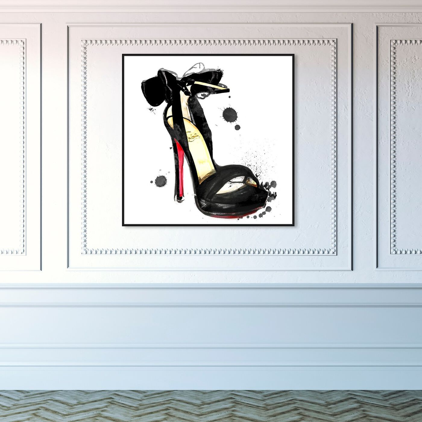 Hanging view of Unstoppable featuring fashion and glam and shoes art.