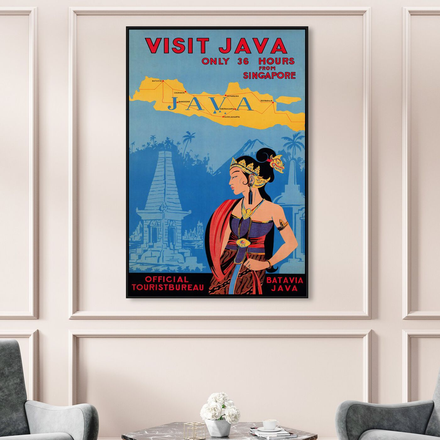 Hanging view of Visit Java featuring world and countries and asian countries art.