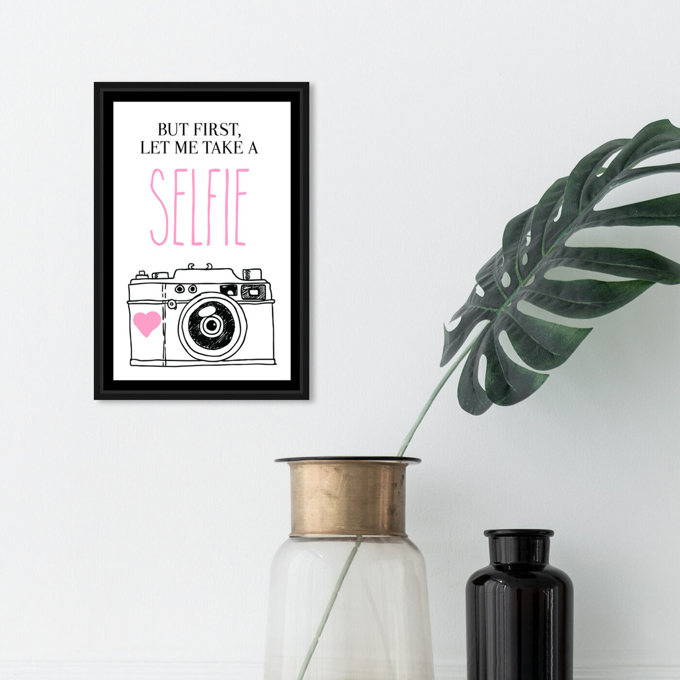 Hanging view of Selfie I featuring typography and quotes and quotes and sayings art.