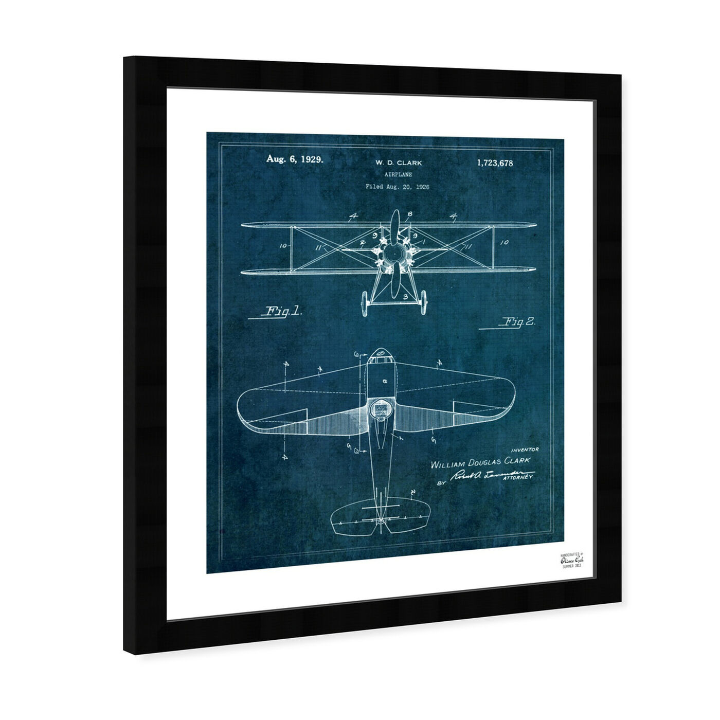 Angled view of Airplane 1929 featuring transportation and air transportation art.