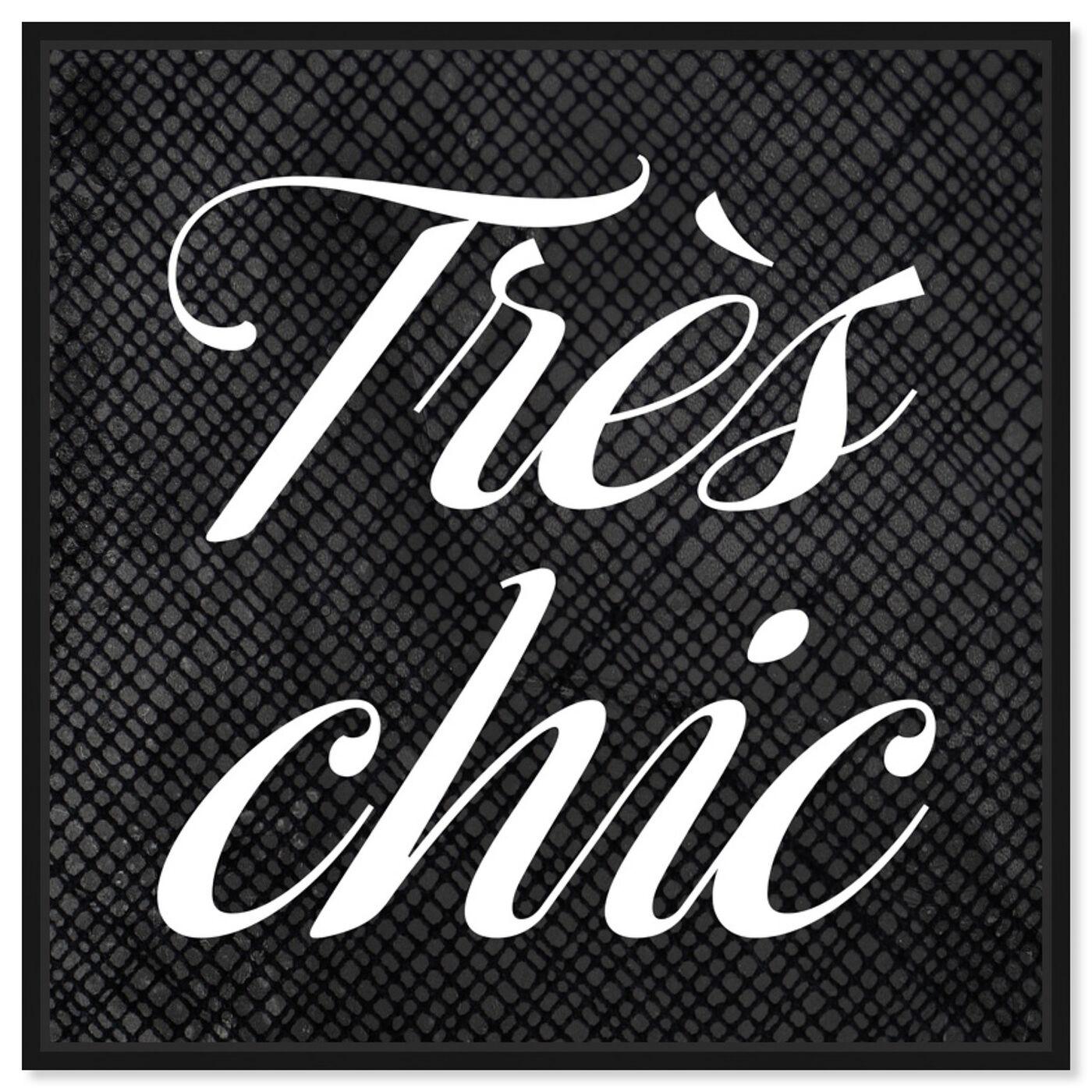Front view of Tres Chic featuring typography and quotes and beauty quotes and sayings art.
