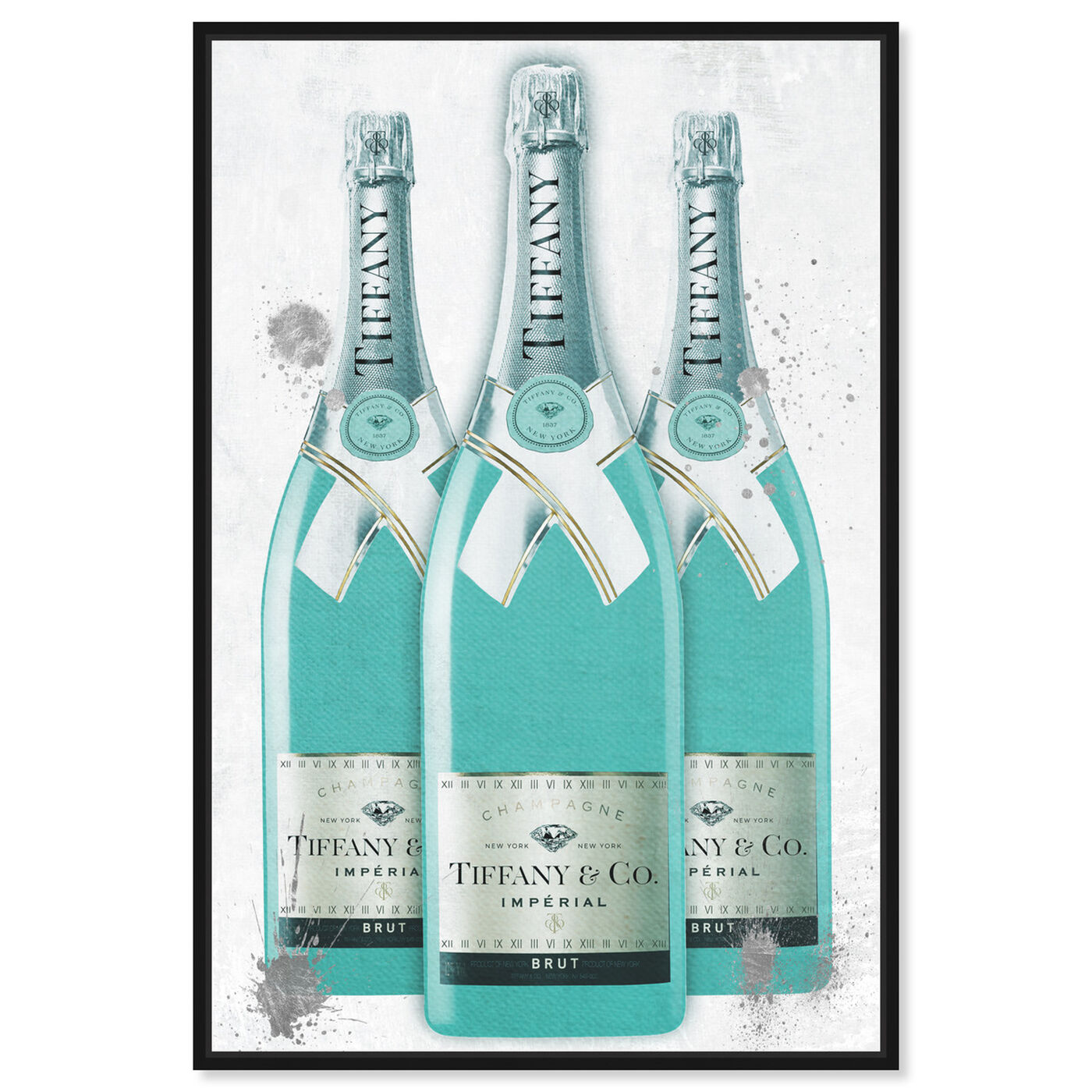 Front view of Diamonds and Bubbles Champagne featuring fashion and glam and lifestyle art.