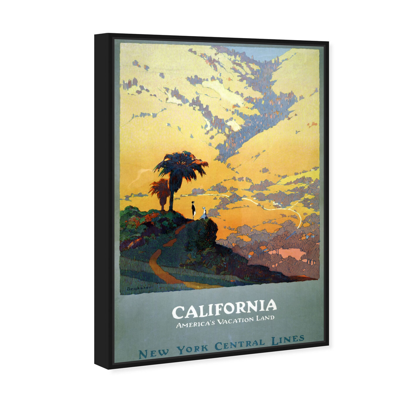 Angled view of California Vacation Land featuring world and countries and north american cultures art.
