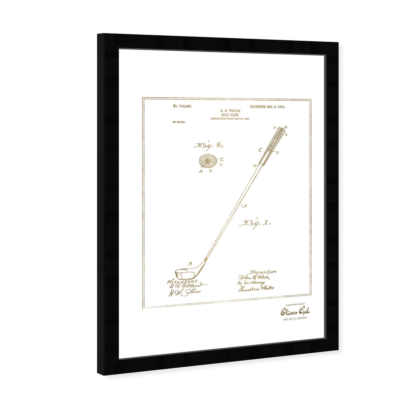 Angled view of Golf Club 1903 I Gold featuring sports and teams and golf art.