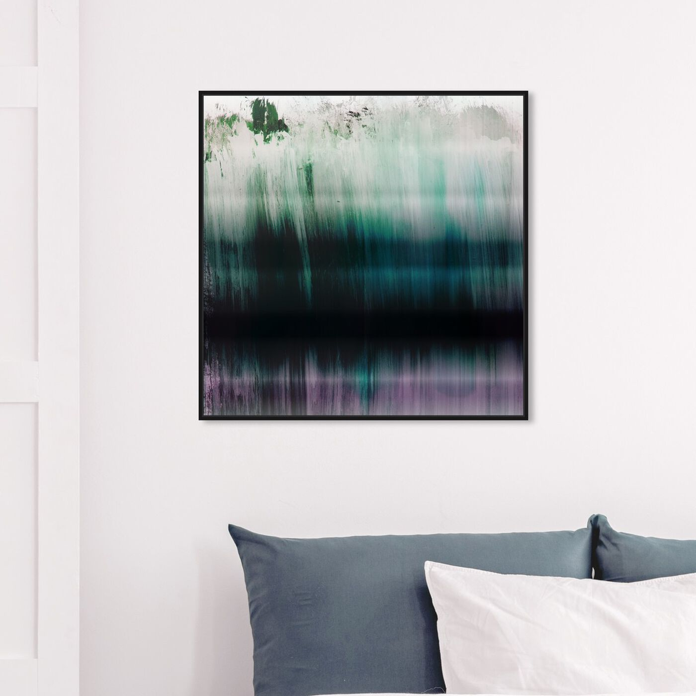 Hanging view of Tritone featuring abstract and paint art.