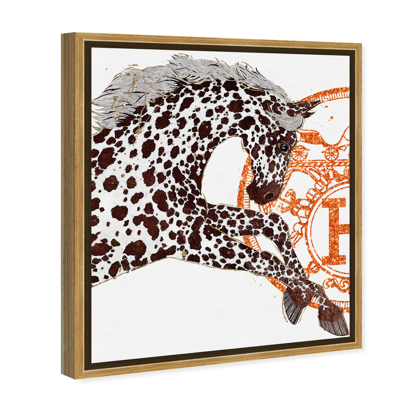 Angled view of Appaloosa Cavalier I featuring fashion and glam and fashion art.