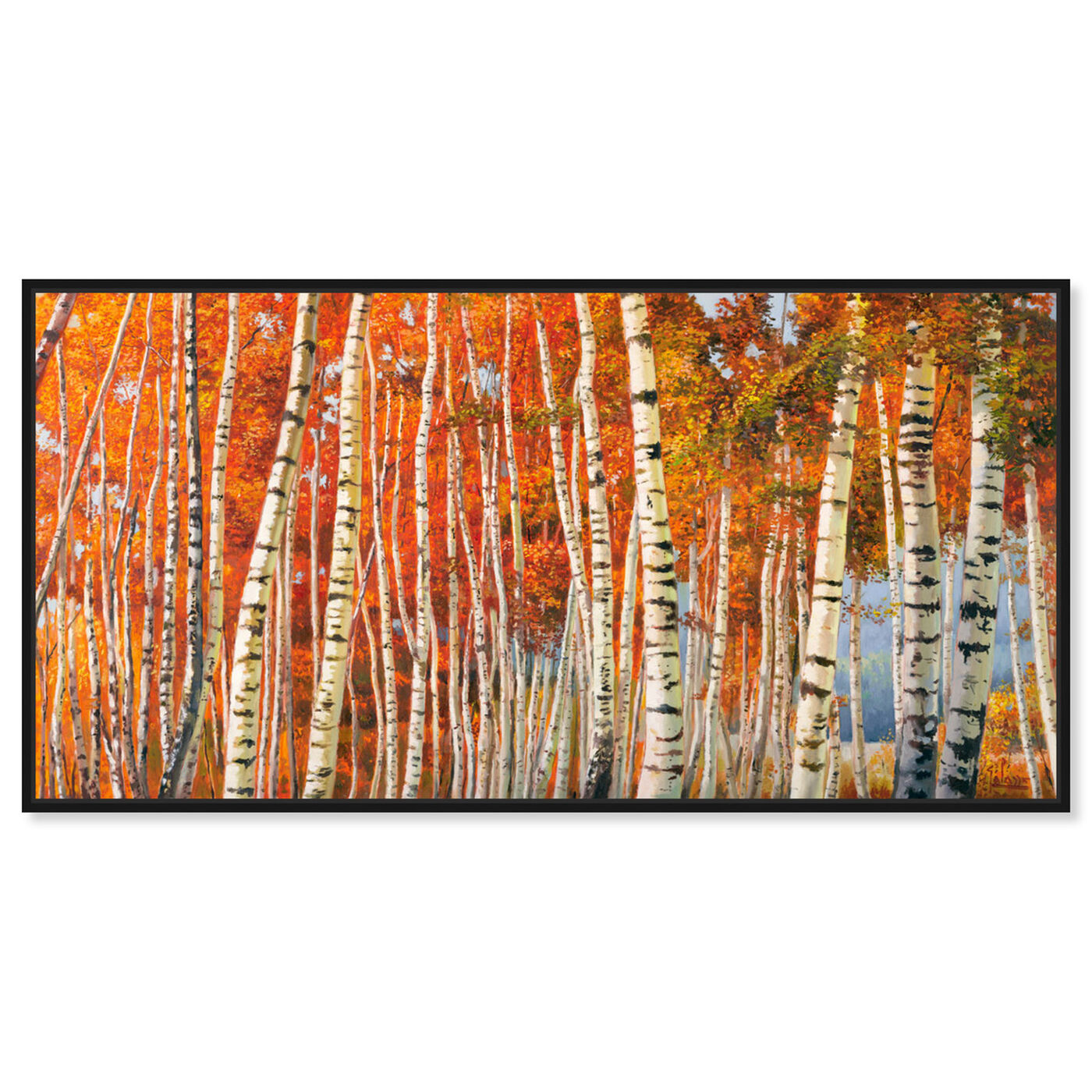 Front view of SAI - Fall Leaf Tree's featuring nature and landscape and forest landscapes art.