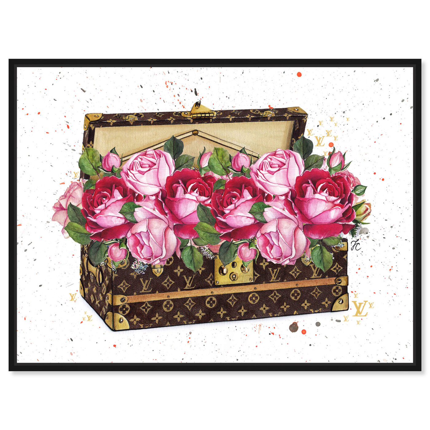 Front view of Doll Memories - Floral Trunk featuring floral and botanical and florals art.