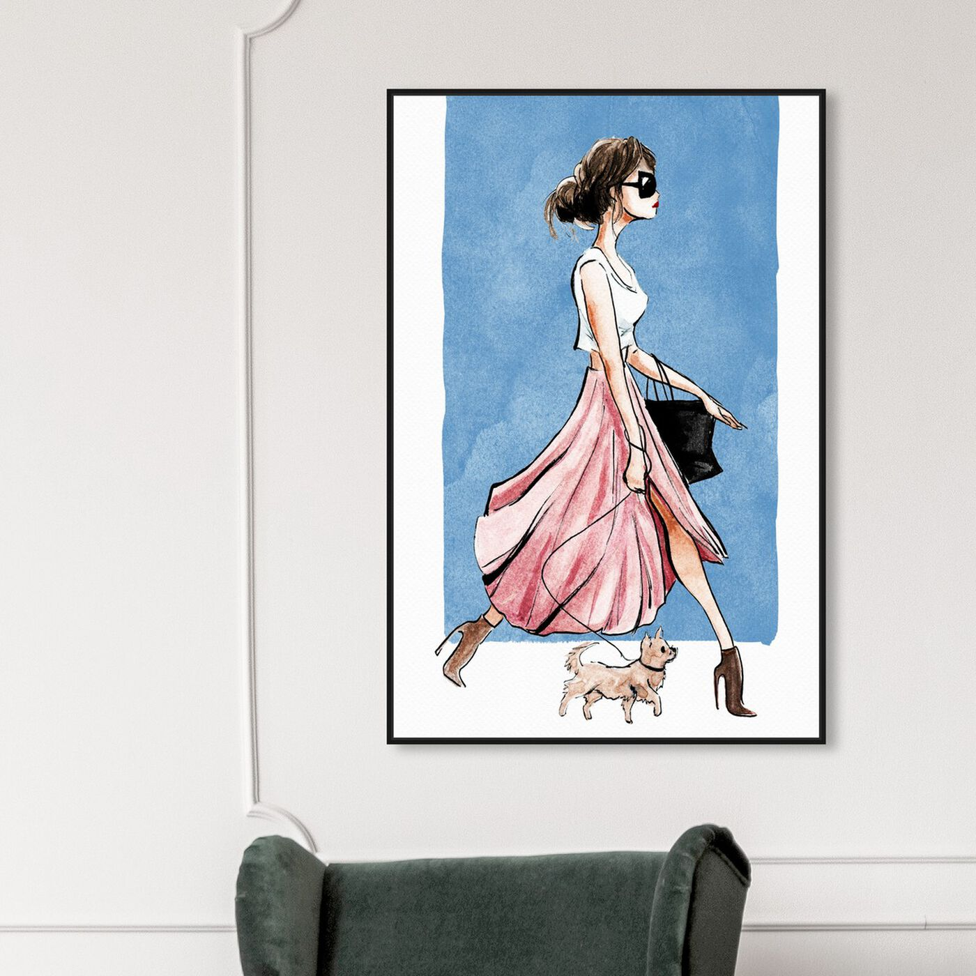 Hanging view of Dog Walk Couture featuring fashion and glam and outfits art.