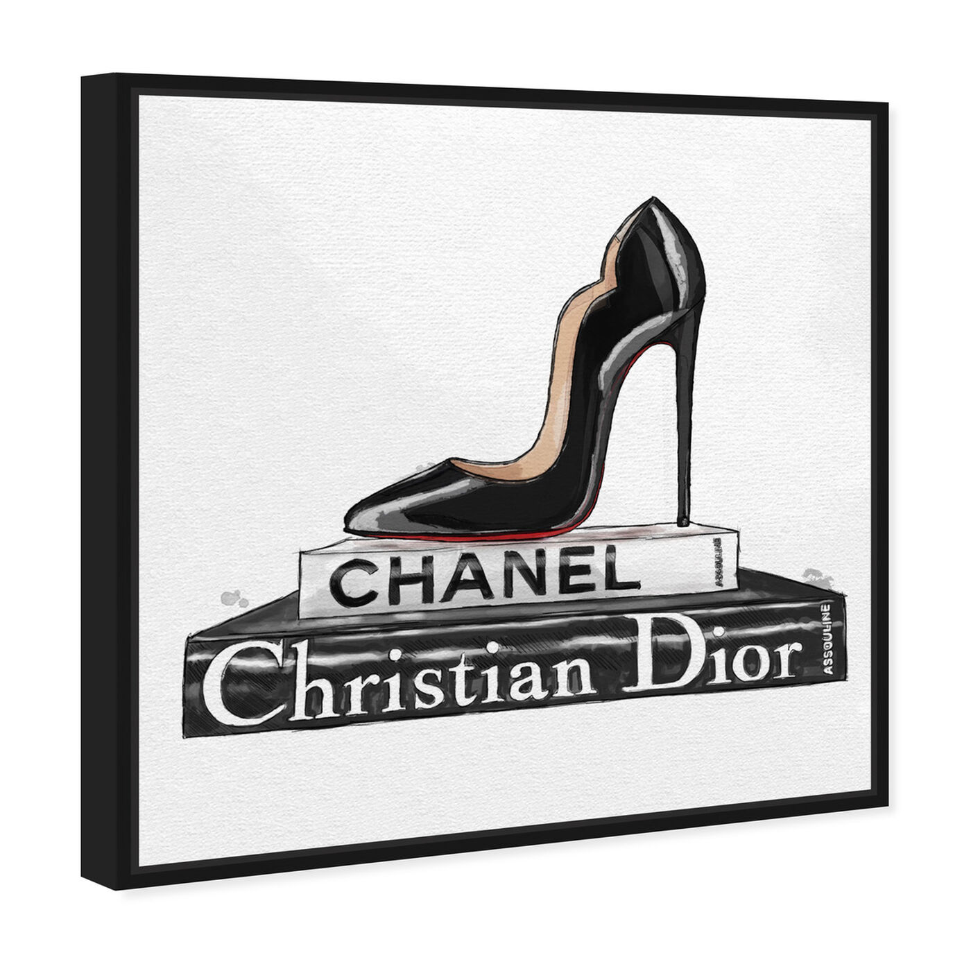 Angled view of Patent Leather Love I featuring fashion and glam and shoes art.