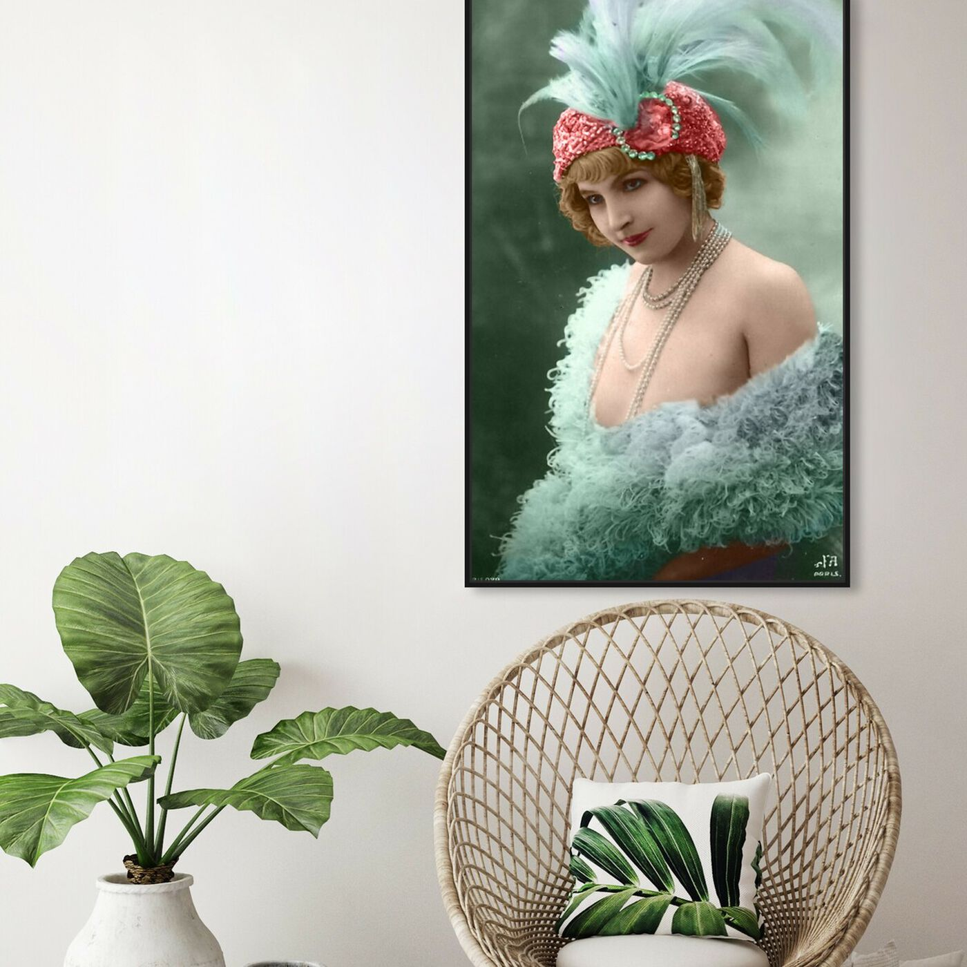 Hanging view of Vintage Dancer featuring classic and figurative and classical figures art.