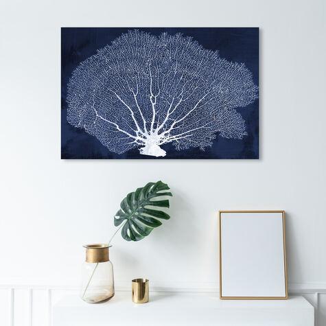 Coral Fan Cyanotype