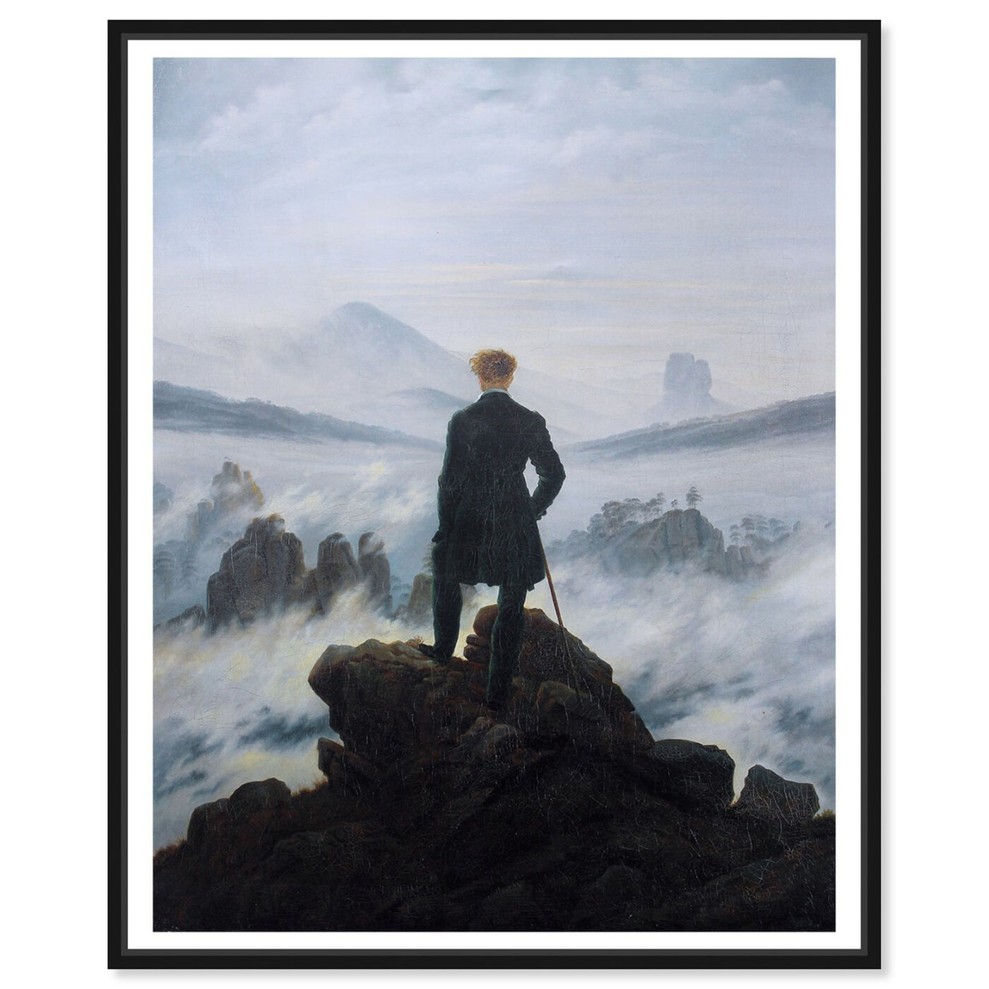 Front view of Friedrich - The Wanderer featuring classic and figurative and classical figures art.
