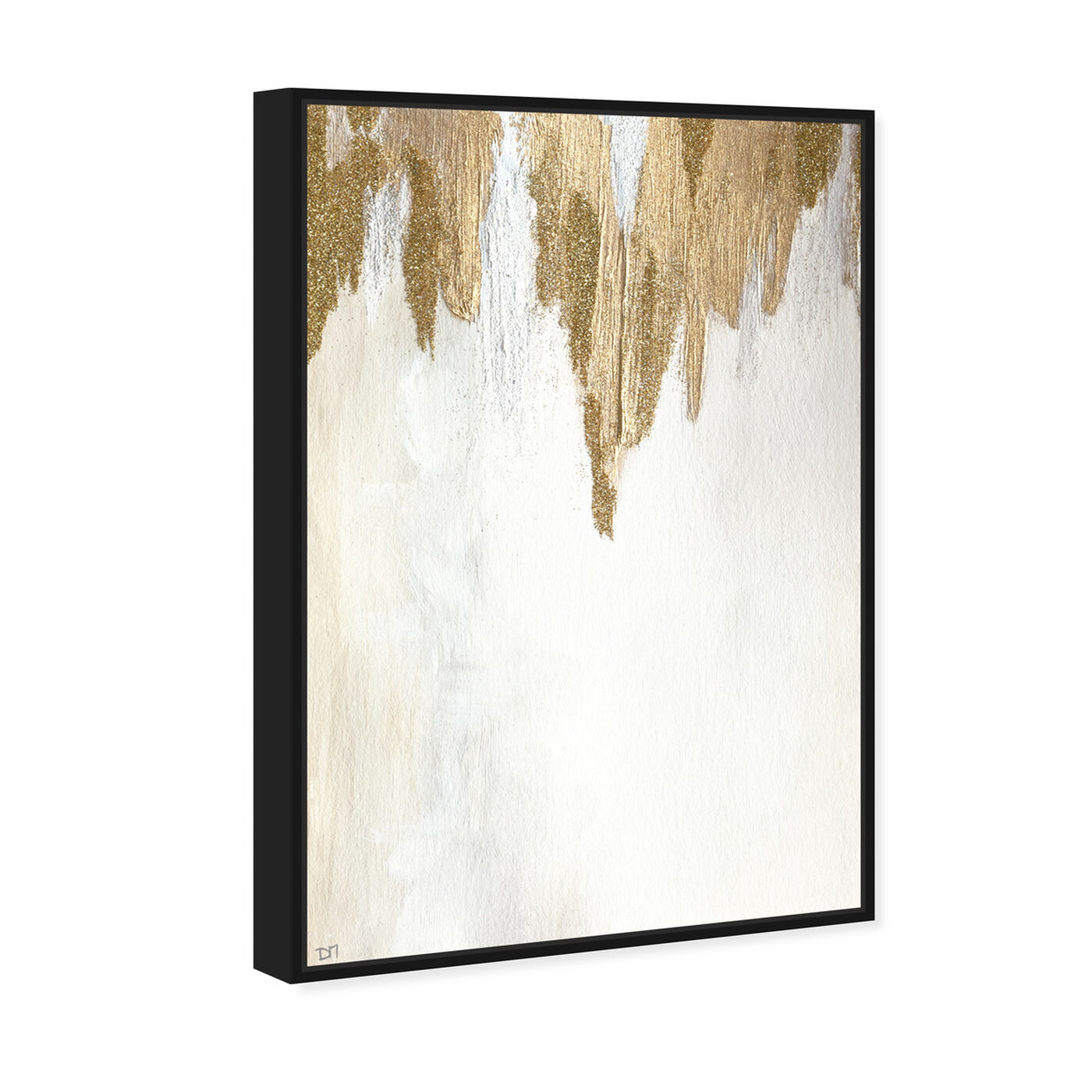 Angled view of Very Golden featuring abstract and paint art.