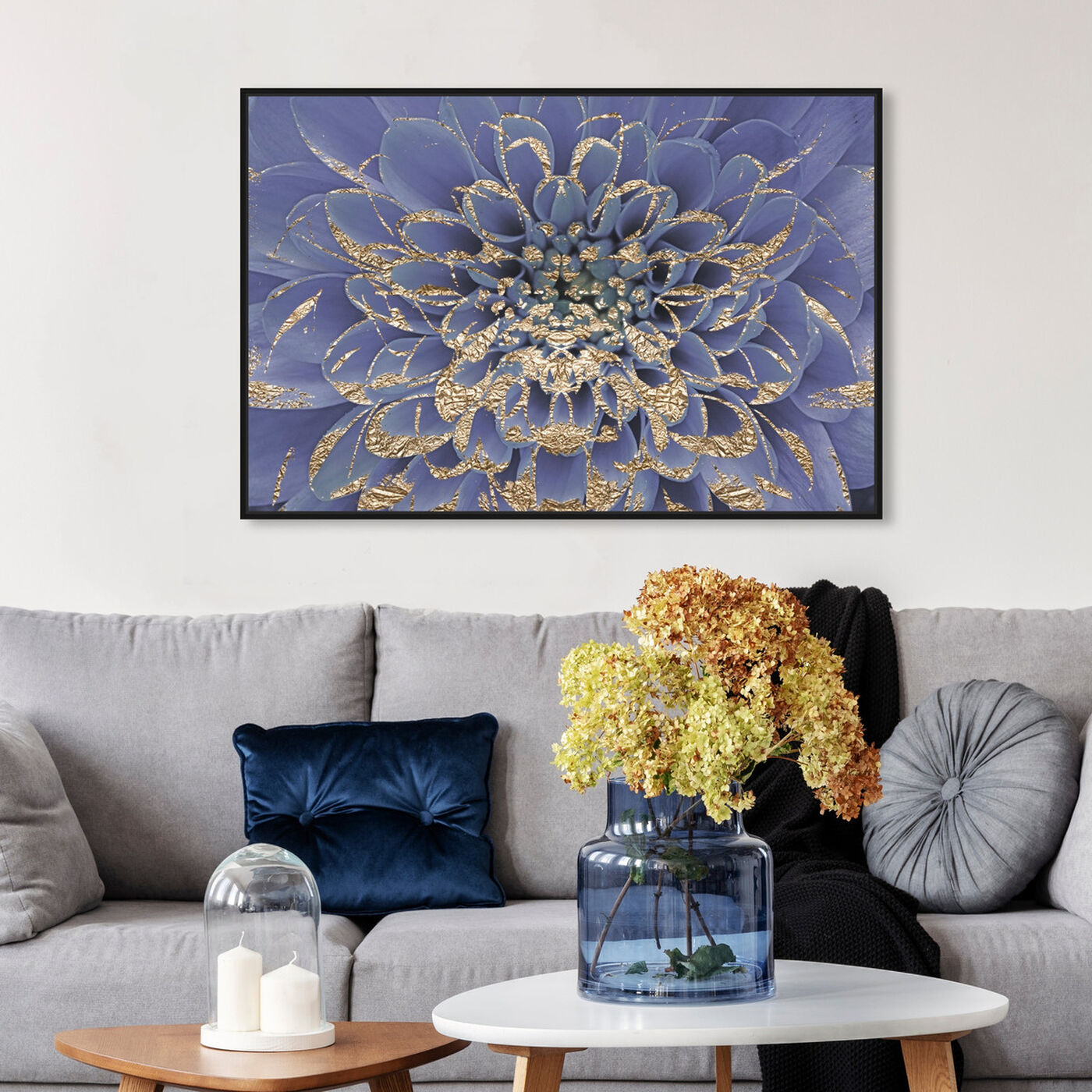 Hanging view of Floralia Lilac I featuring floral and botanical and florals art.