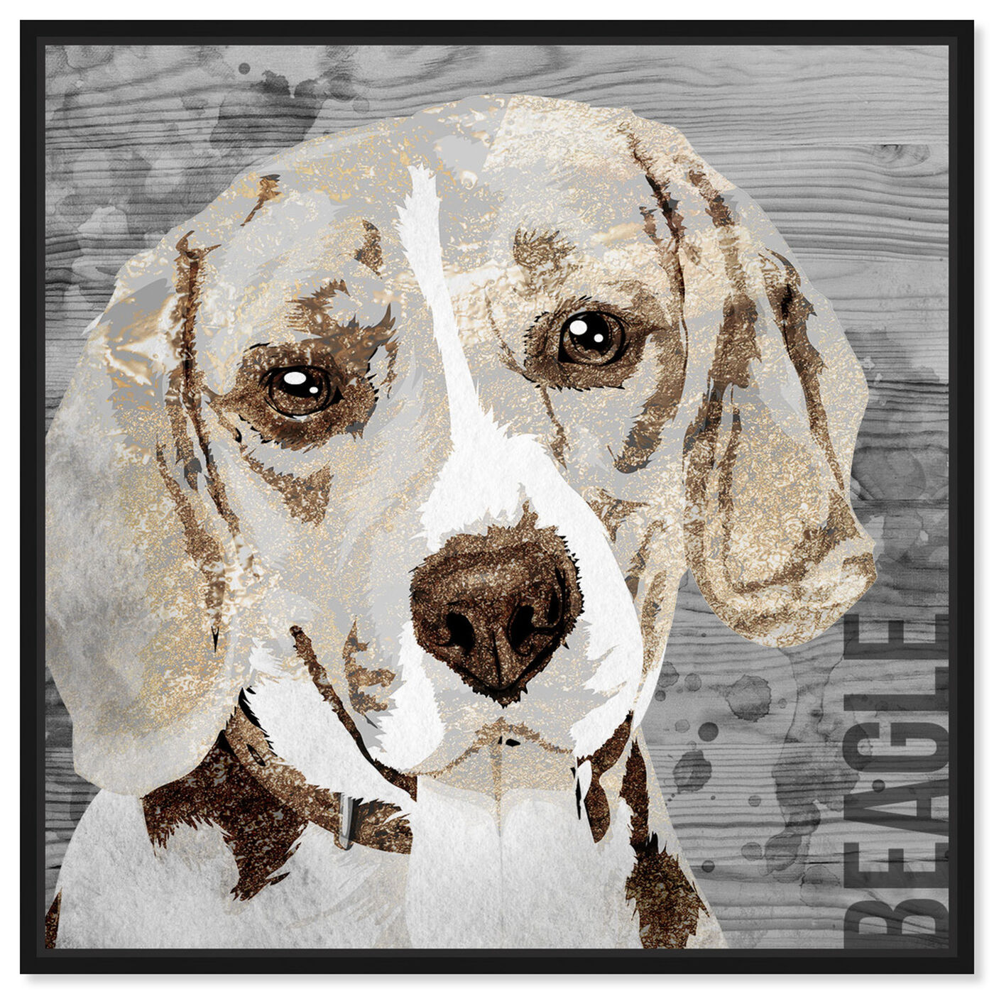 Front view of Love My Beagle featuring animals and dogs and puppies art.