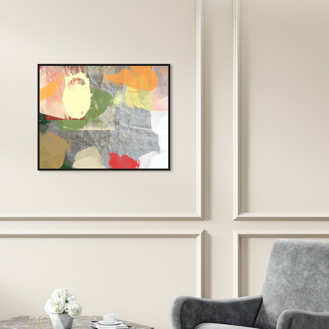 Hanging view of Sand Storm featuring abstract and paint art.