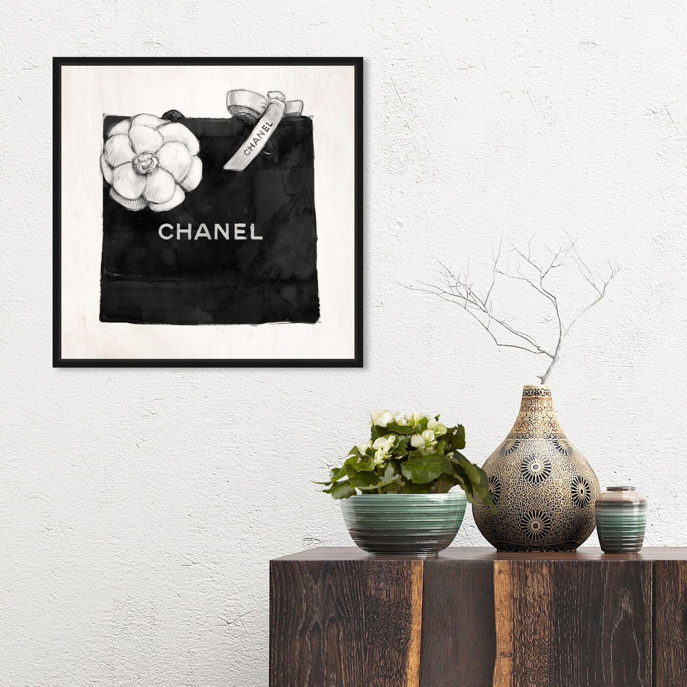 Hanging view of Luxury Shopping Bag I featuring fashion and glam and fashion lifestyle art.