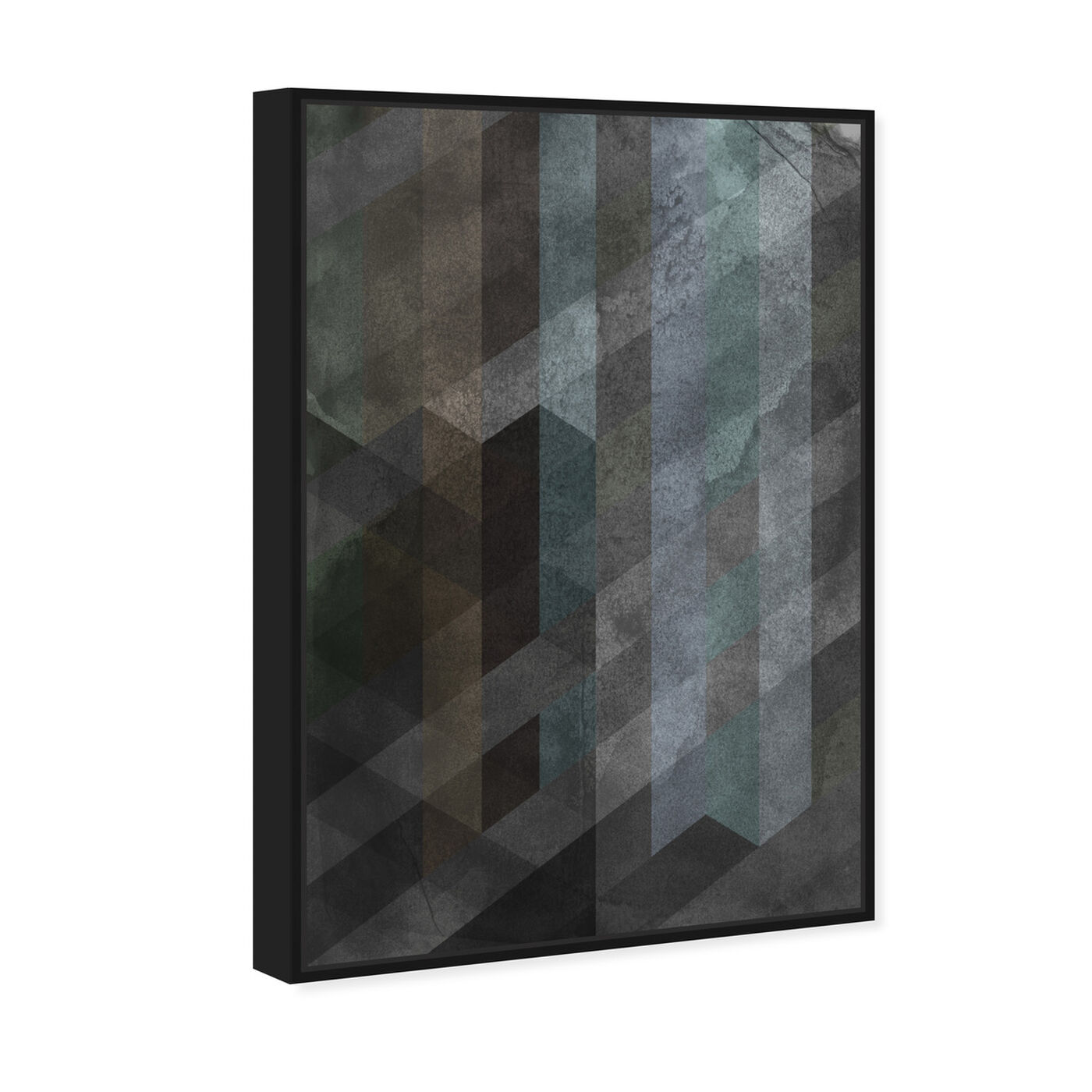 Angled view of Steel featuring abstract and textures art.