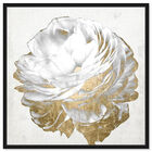 Front view of Gold and Light Floral White featuring floral and botanical and florals art. image number null