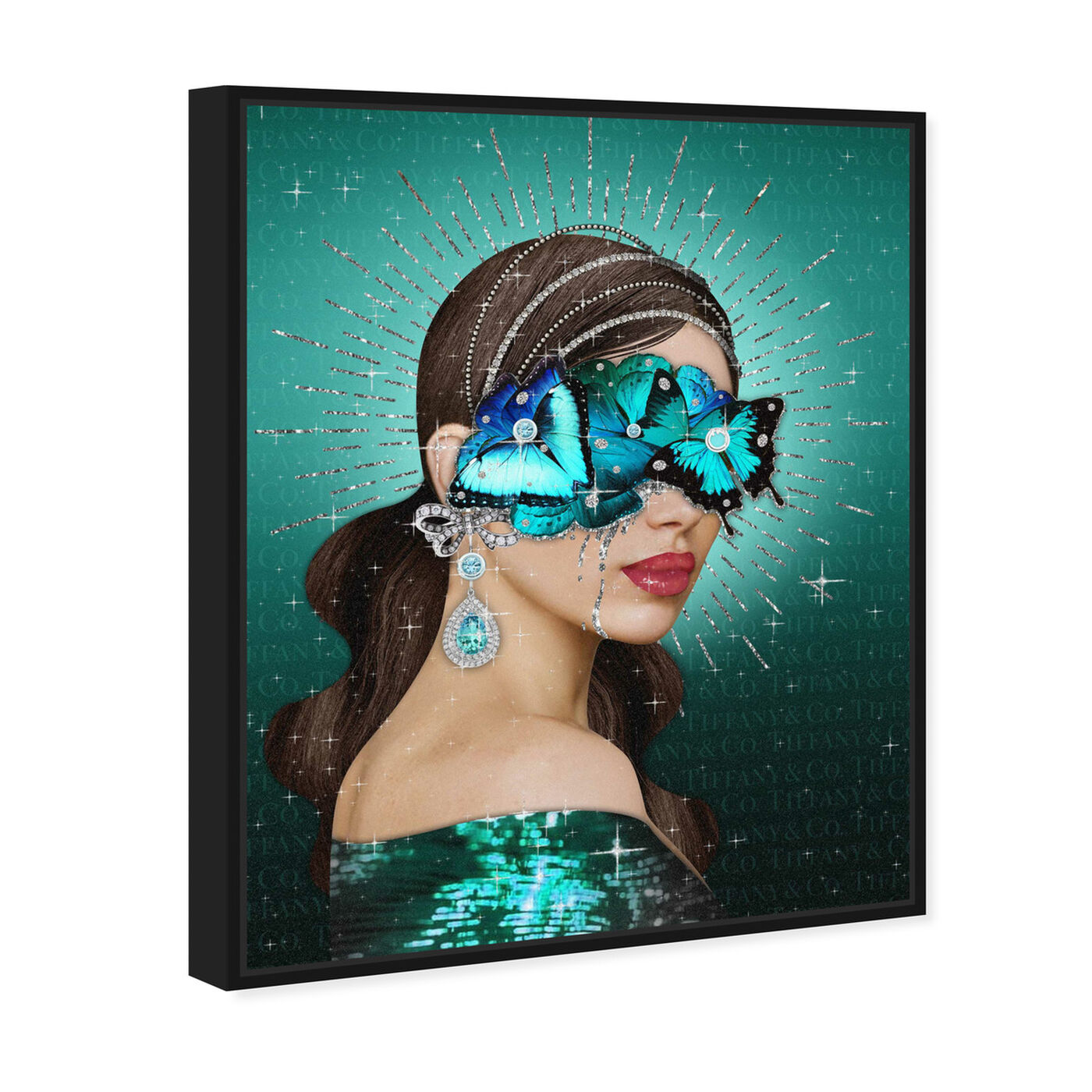 Angled view of Turquoise Queen featuring fashion and glam and portraits art.
