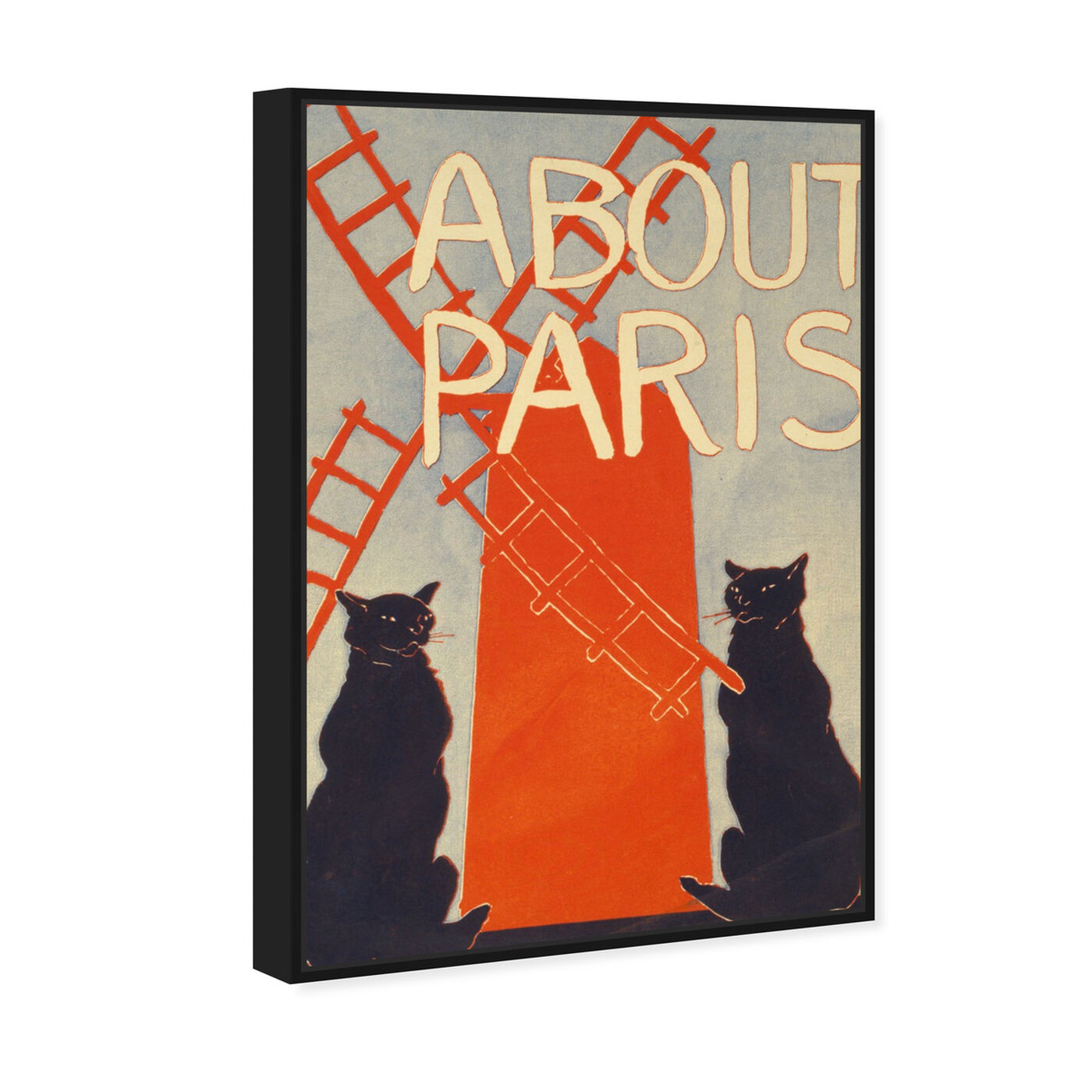 Angled view of About Paris featuring cities and skylines and european cities art.