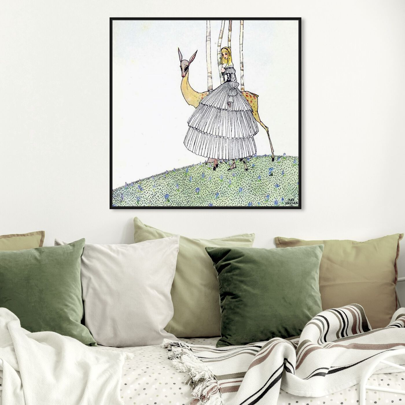 Hanging view of The Princess and the Fawn featuring fantasy and sci-fi and fairy tales art.