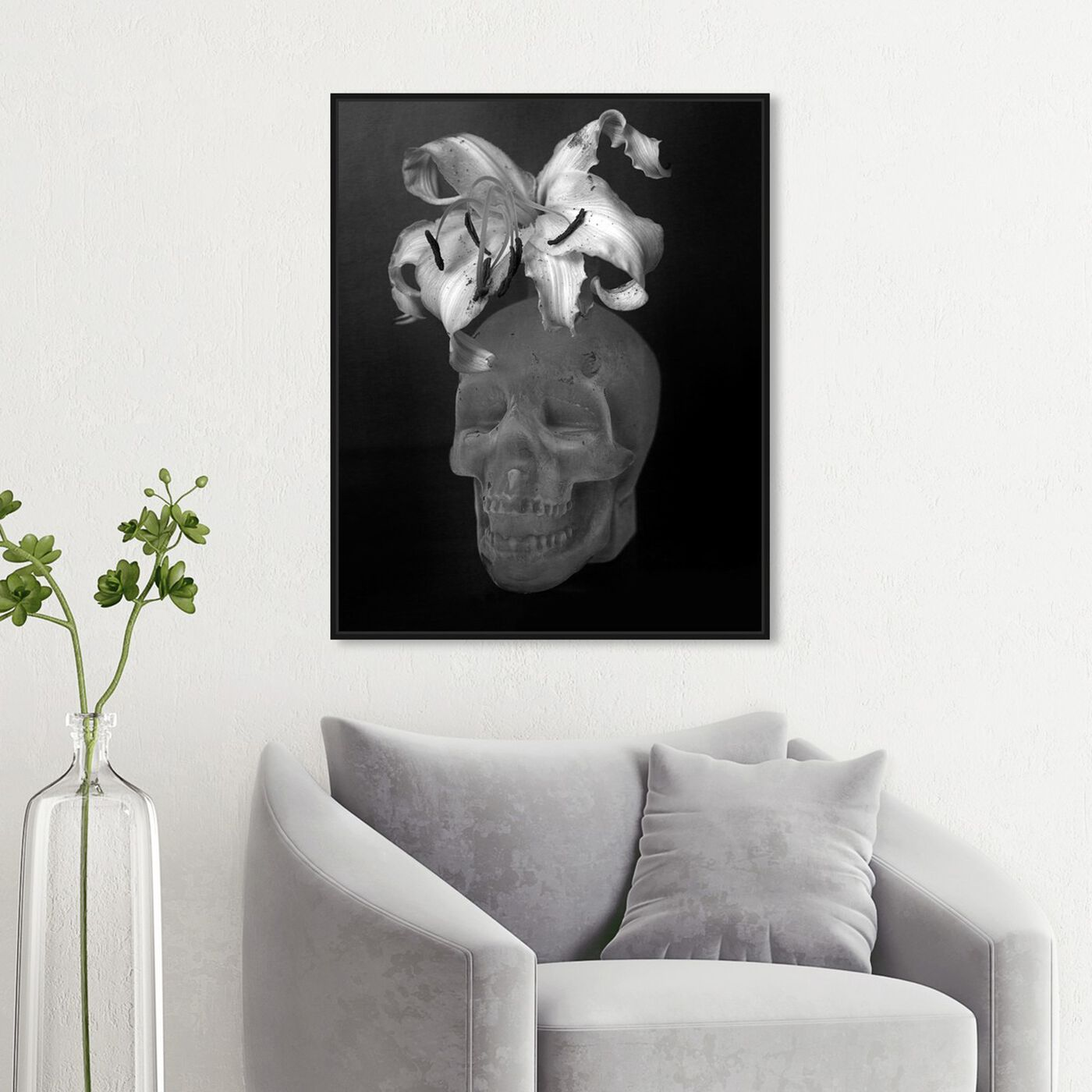 Hanging view of Ekaterina Juskowski - Skull Renaissance featuring symbols and objects and skull art.