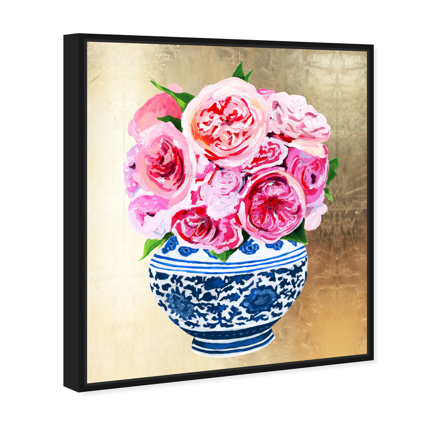 Angled view of Peonie Vase II featuring world and countries and asian cultures art.