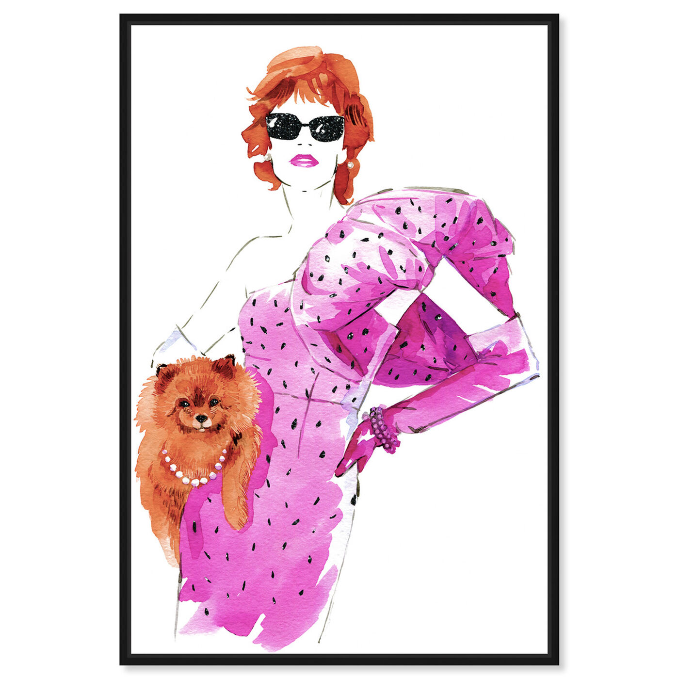 Front view of Auburn Madame and Pooch featuring fashion and glam and dress art.