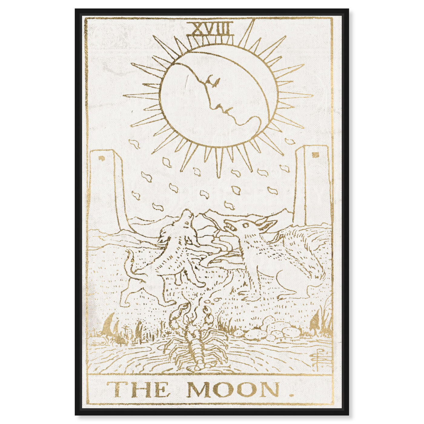 Front view of The Moon Tarot Luxe featuring spiritual and religious and astrology art.