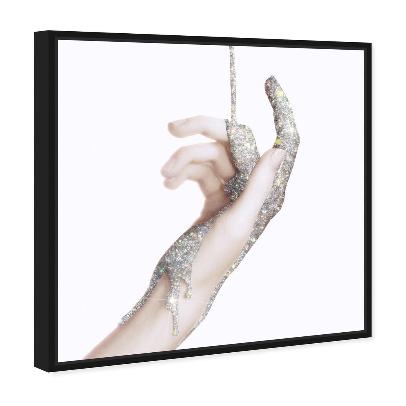 Angled view of Hands and Rhinestones III featuring fashion and glam and jewelry art.
