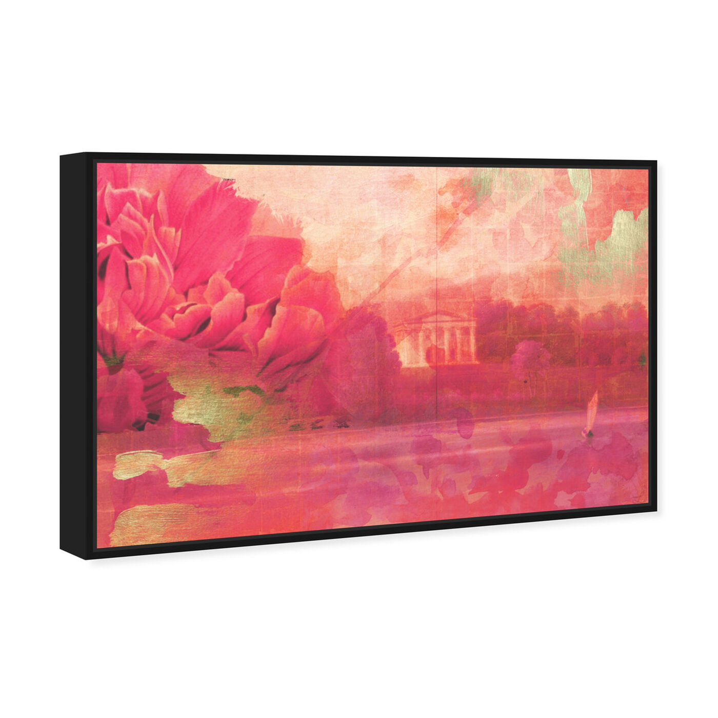 Angled view of Amorio featuring floral and botanical and gardens art.