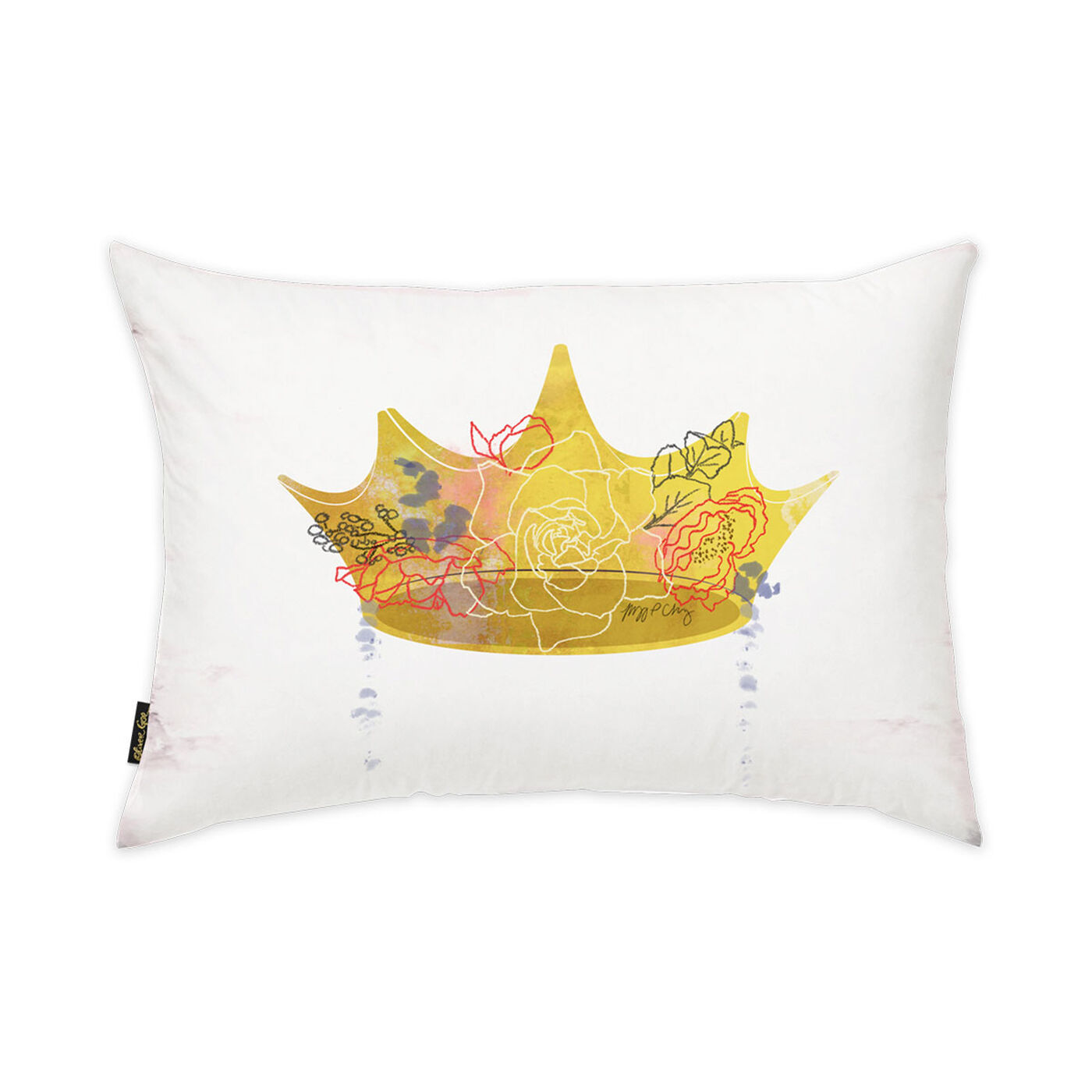Crown Queen Pillow by Maggie P. Chang II