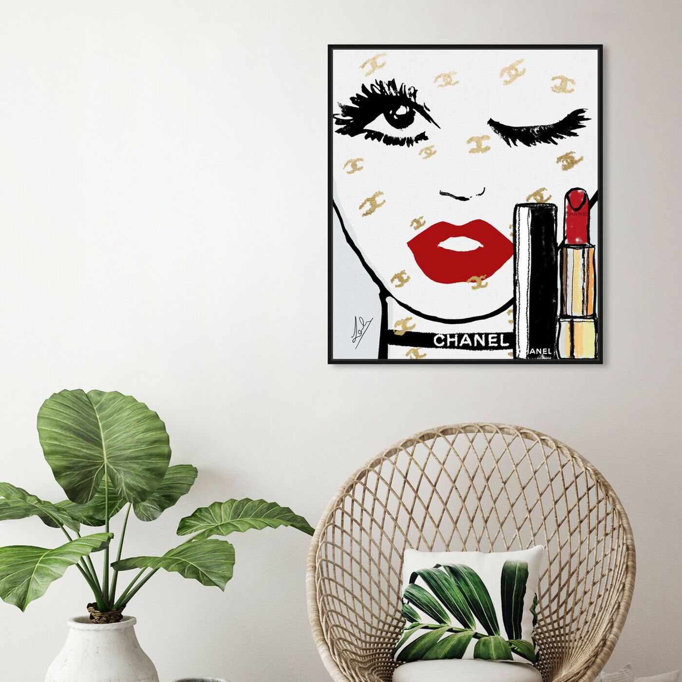 Hanging view of Le Rouge Face featuring fashion and glam and portraits art.
