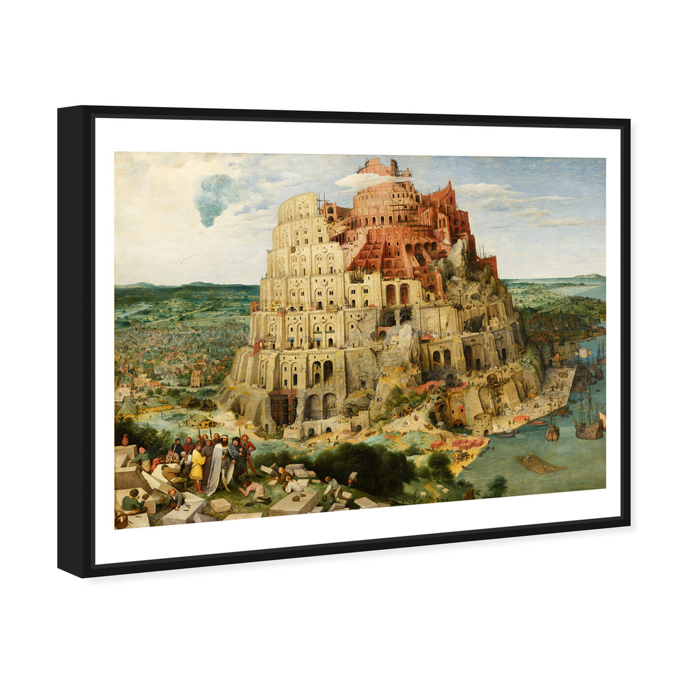 Angled view of Bruegel - The Tower of Babel featuring classic and figurative and renaissance art.