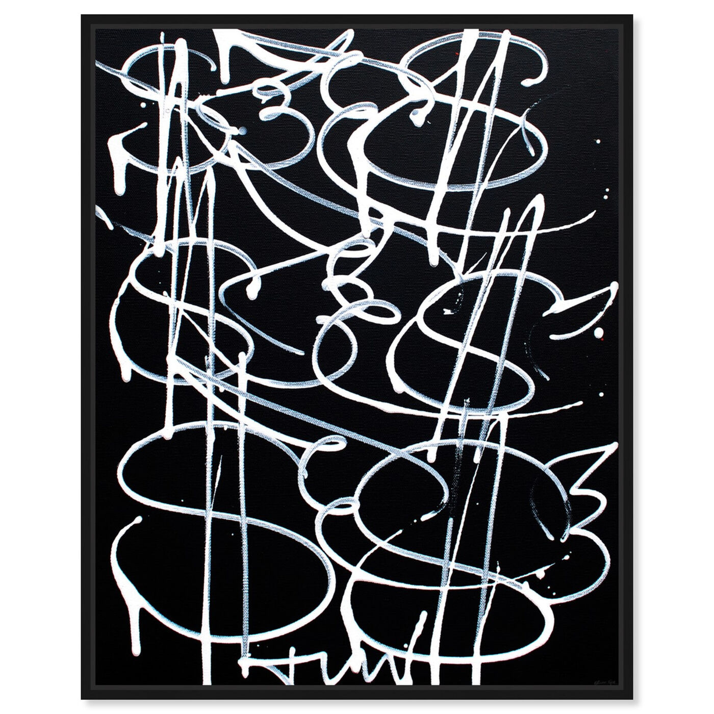 Front view of Money Fly by Tiago Magro featuring abstract and paint art.