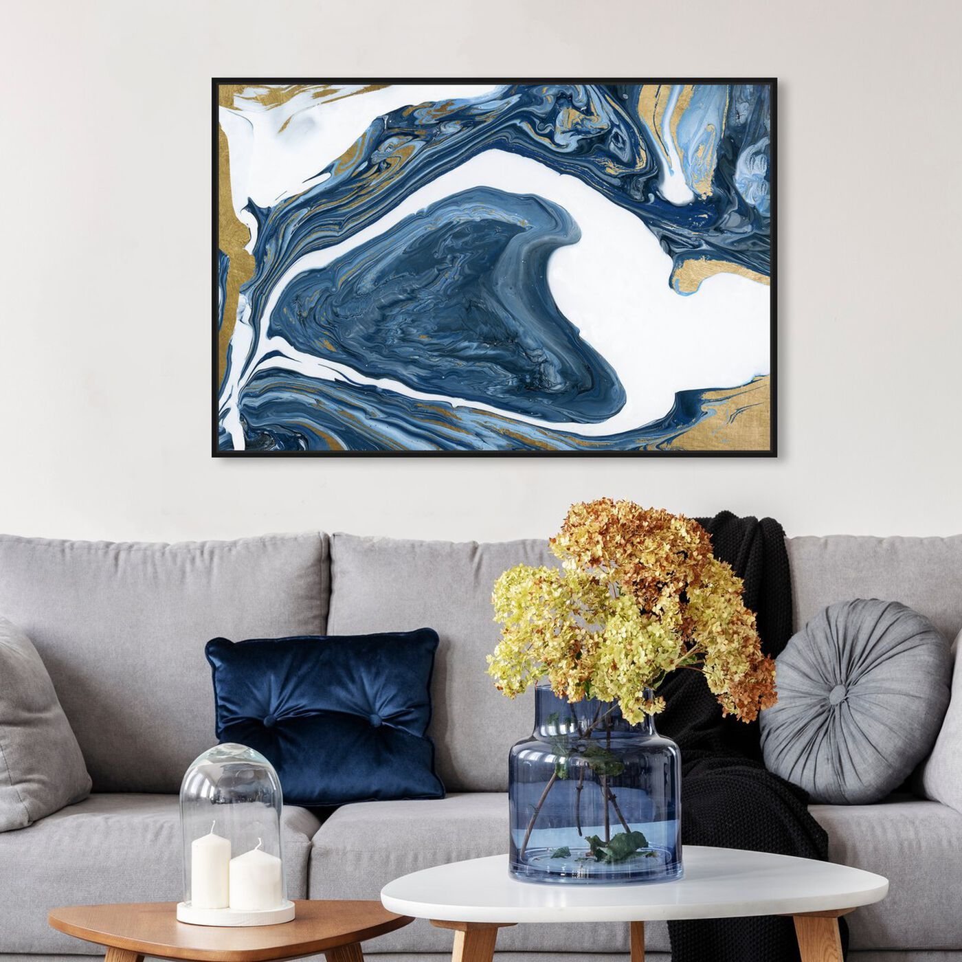 Hanging view of Deep Agate featuring abstract and crystals art.