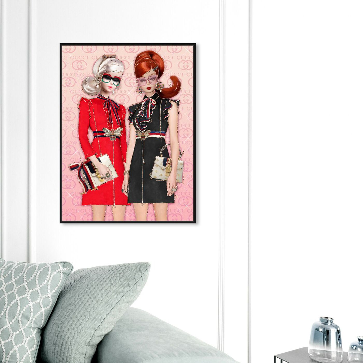 Hanging view of BFFs On A Spree featuring fashion and glam and dolls art.