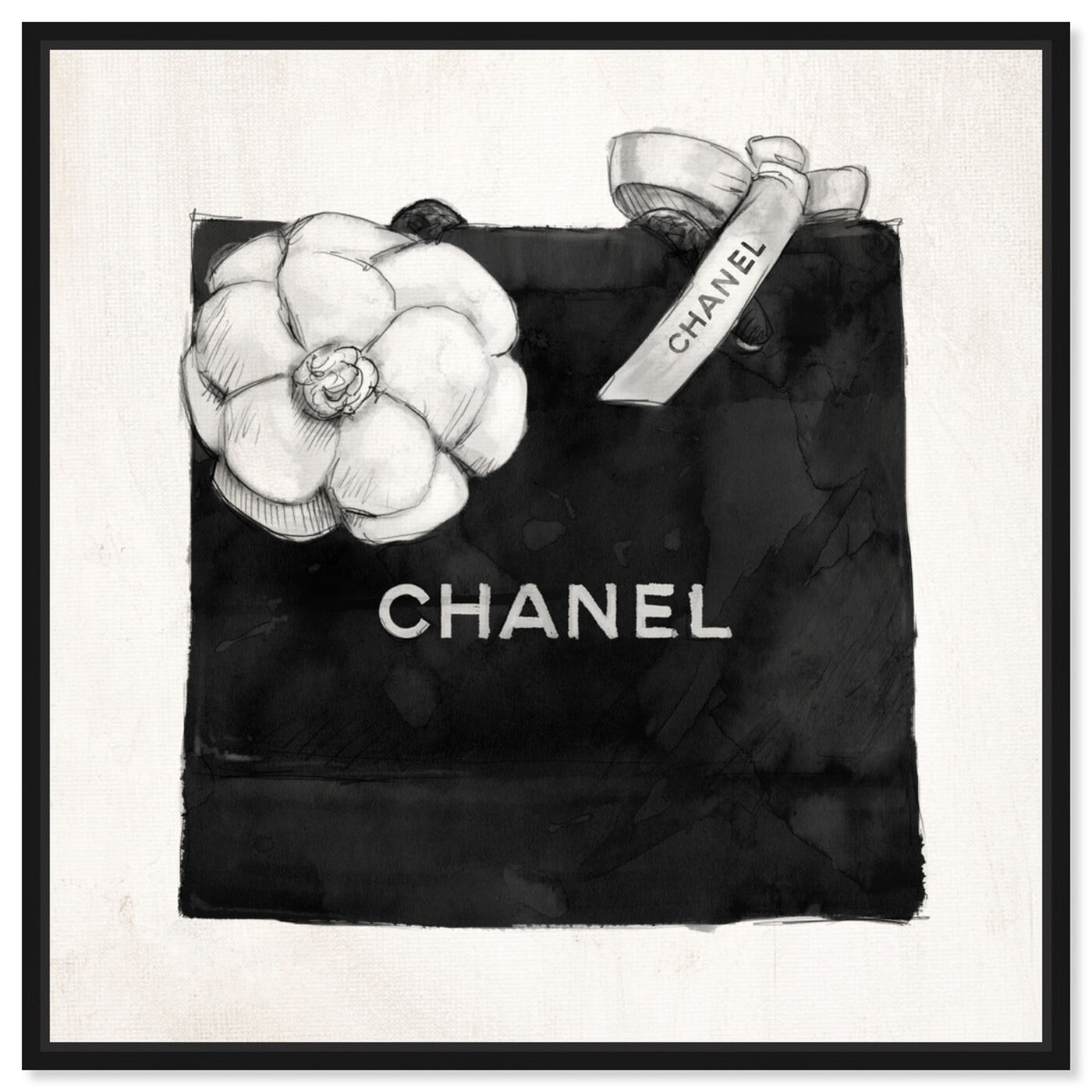 Front view of Luxury Shopping Bag I featuring fashion and glam and fashion lifestyle art.