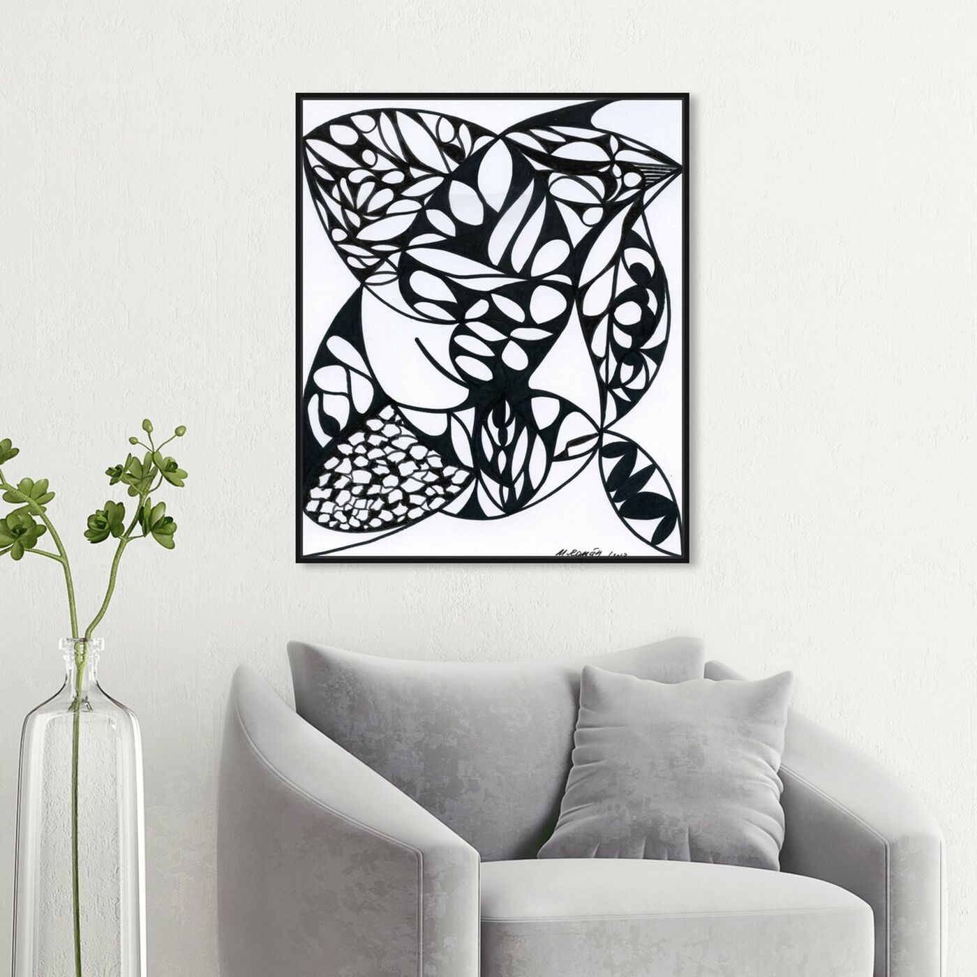 Hanging view of Nocturne featuring abstract and geometric art.