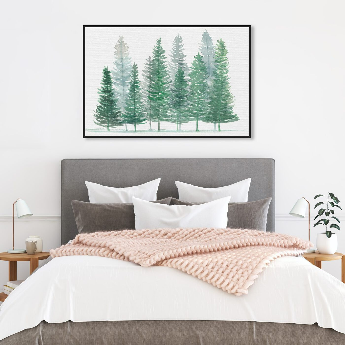 Hanging view of Forest Pine featuring nature and landscape and forest landscapes art.