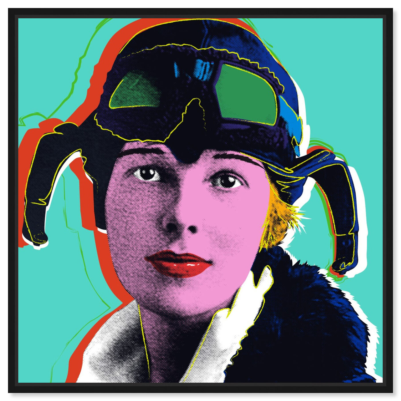 Front view of Amelia Earhart featuring people and portraits and celebrities art.