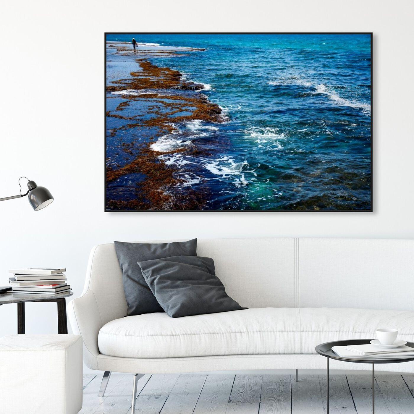 Hanging view of Sdot Yam Beach featuring nautical and coastal and coastal art.