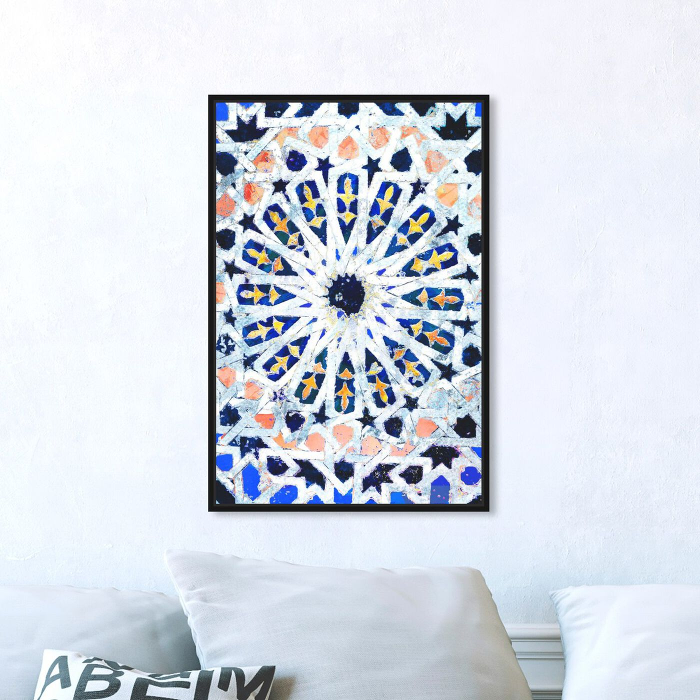 Hanging view of Azahar featuring abstract and patterns art.
