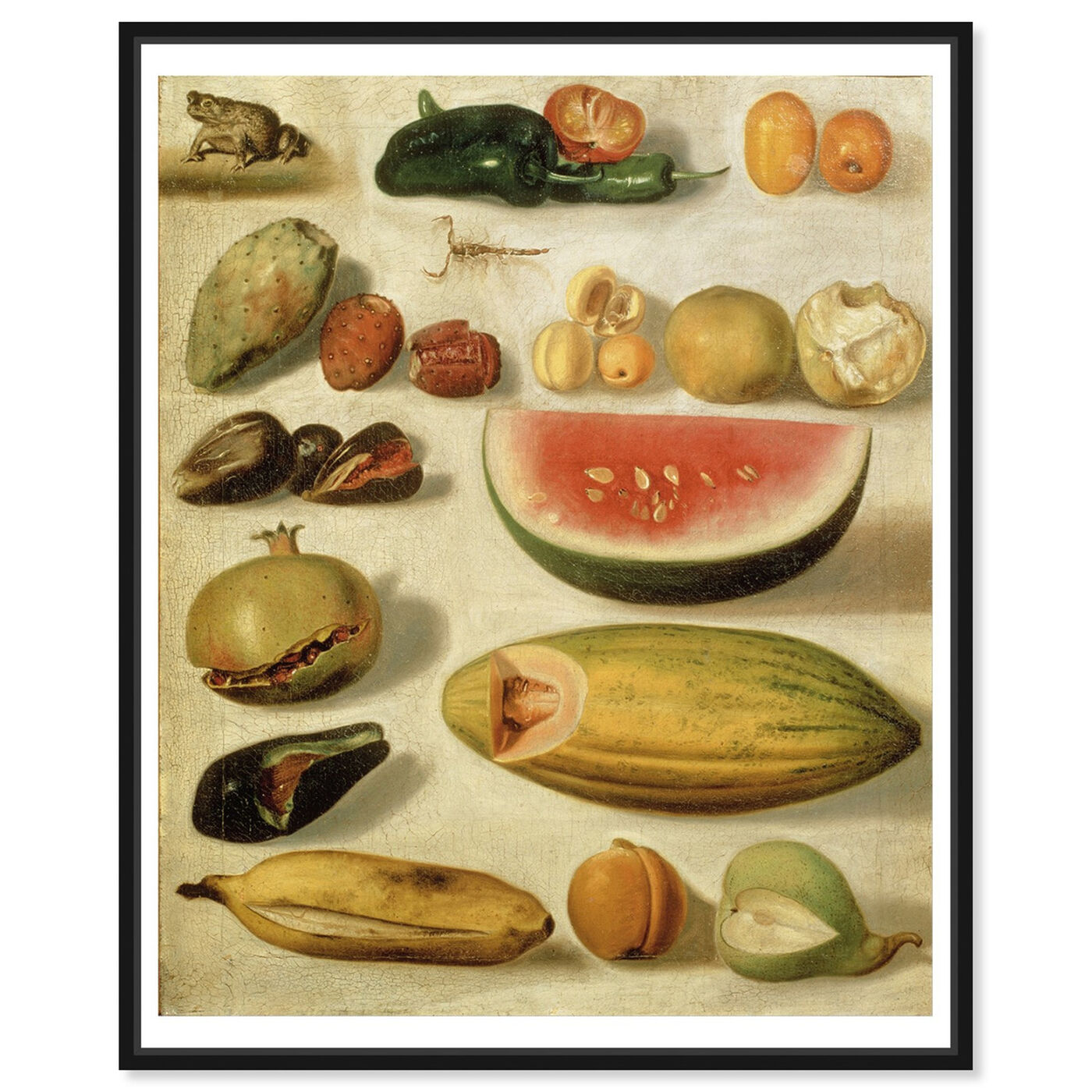Front view of Bustos - Still Life With Fruit featuring classic and figurative and impressionism art.