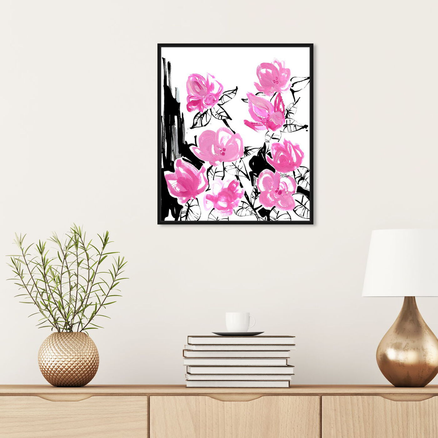 Hanging view of Denise Elnajjar - The Blooms featuring floral and botanical and florals art.