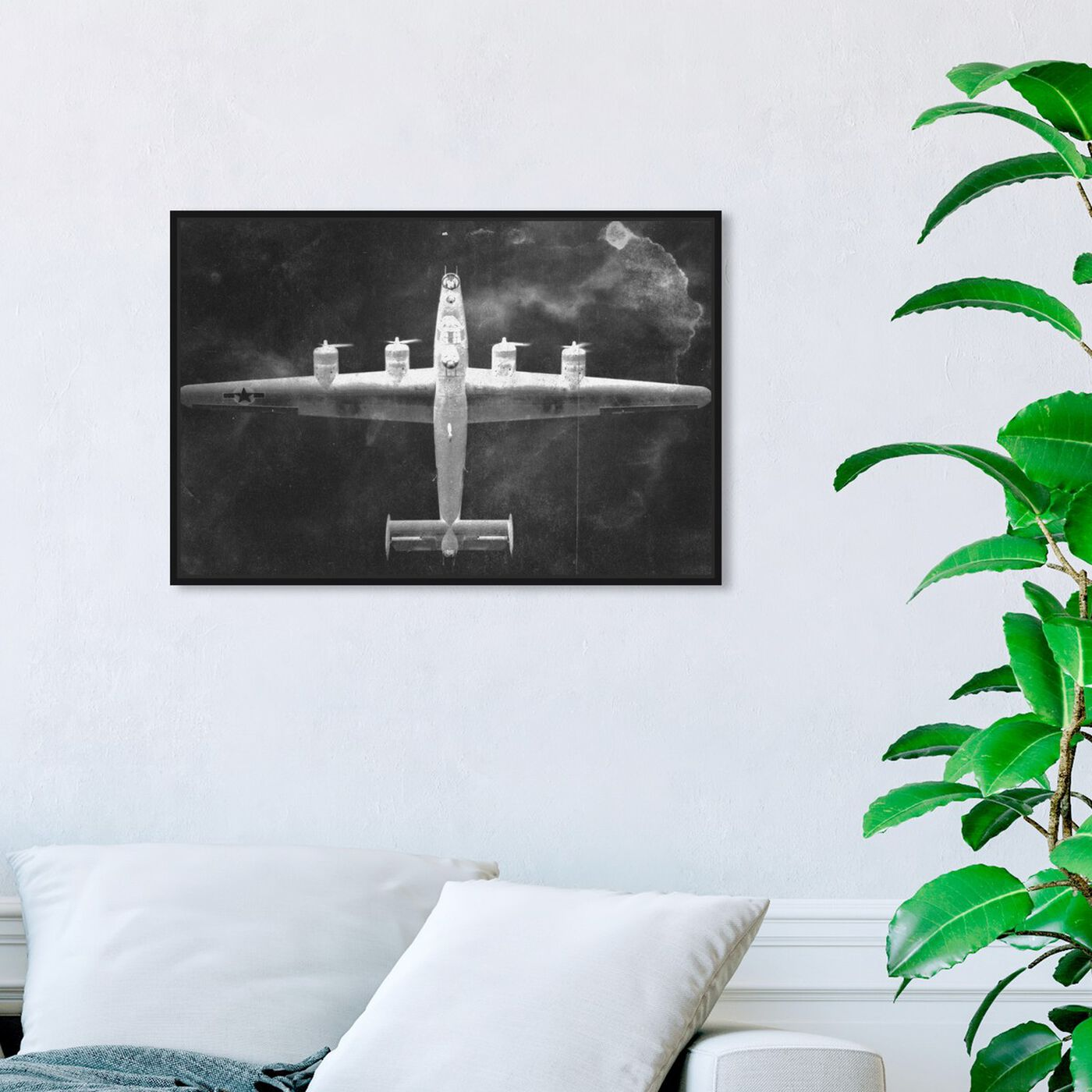Hanging view of Aircraft Inverted featuring transportation and airplanes art.